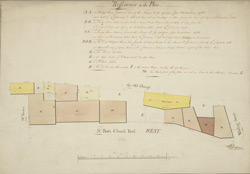 [Plan of property in St Paul's churchyard, belonging to the Mercers' Company and others]